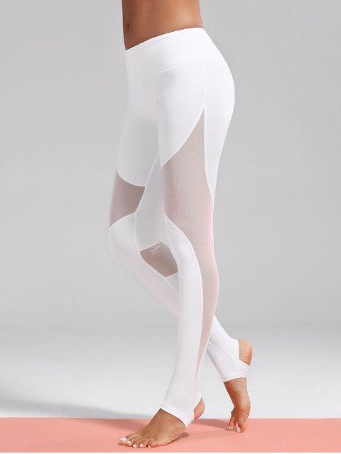 Jambières sportives Stirrup Insertion de maille - Blanc L Mobile