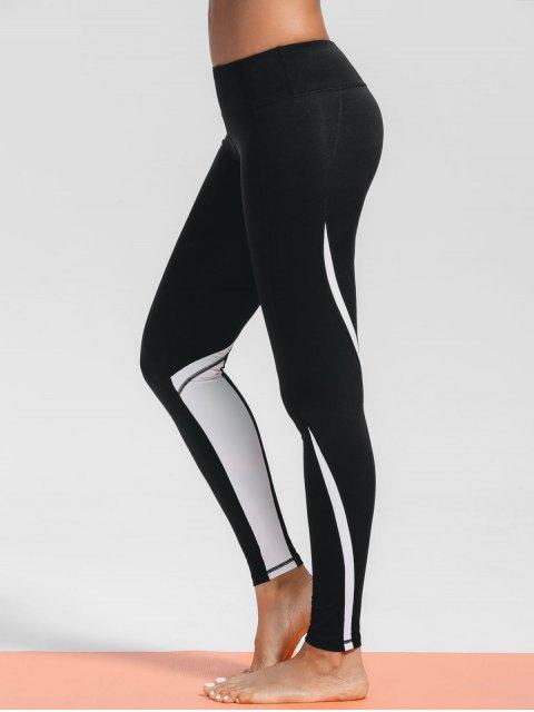 Leggings noirs sportifs et extensibles pour les femmes - Noir M Mobile