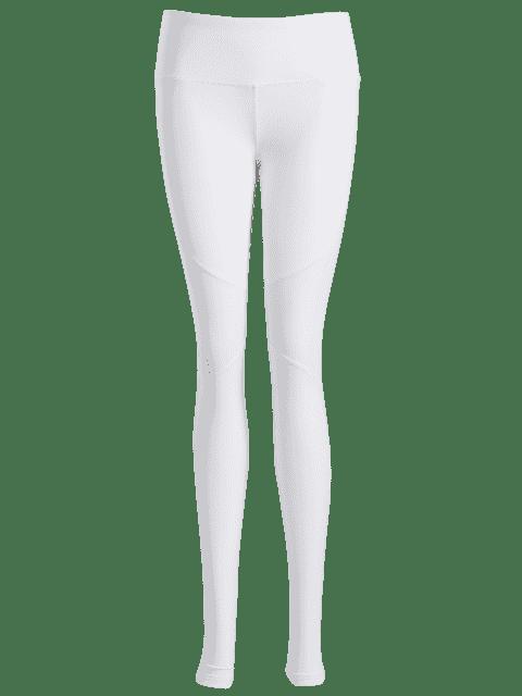 Insertion en maille de jambières sportives - Blanc M Mobile