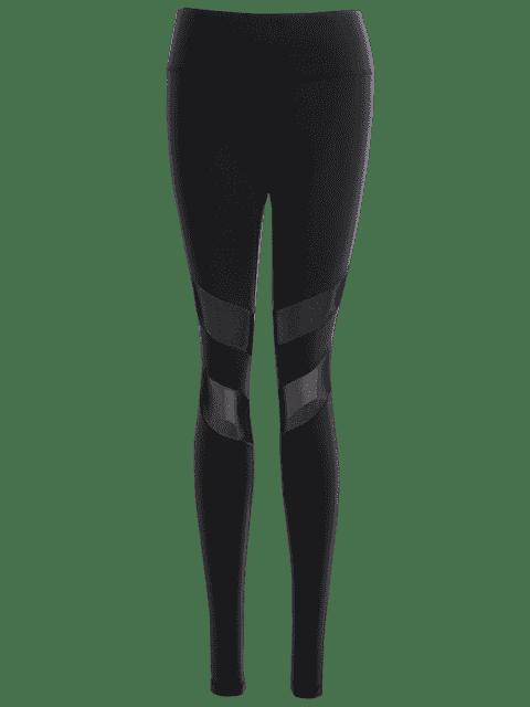 Leggings extensibles en acier inoxydable - Noir L Mobile