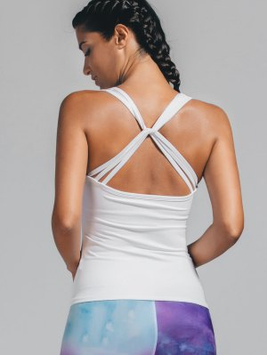 Padded Twist Back Sporty Tank Top
