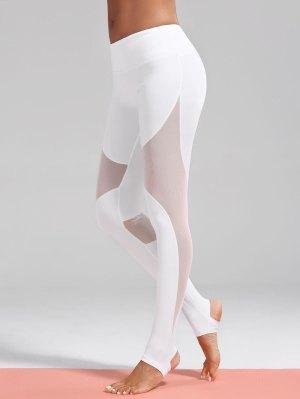 Leggings de sport étrier inséré maille