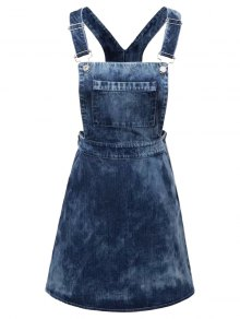 Tie Dyed Denim Pinafore Dress