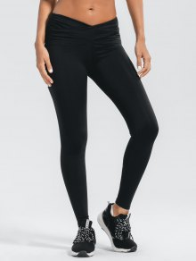 Stretchy Cross Waist Ruched Active Pants