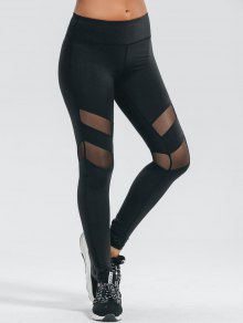 Active Mesh Panel Stretchy Leggings