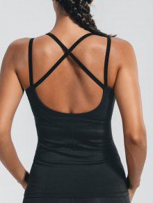 Padded Cross Back Sporty Top