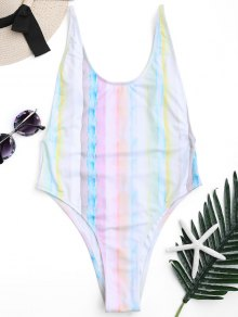 Low Back Tie Dye High Cut Swimsuit