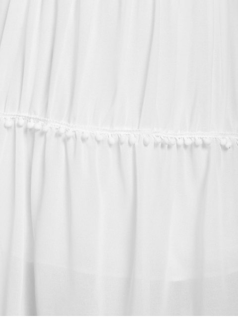 women White With Lace Off The Shoulder Dress - WHITE M Mobile