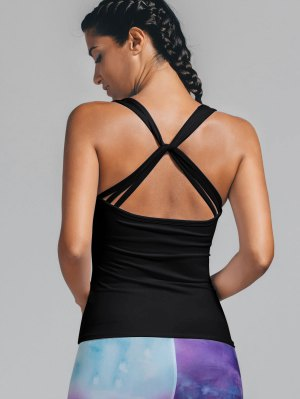 Twist Back Padded Sporty Tank Top