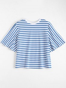 Loose Cotton Stripes T-Shirt