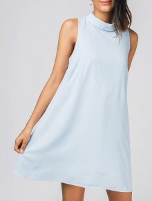 Keyhole Mini Chiffon Dress