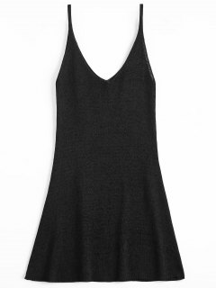 Mini Cami A Line Dress - Black