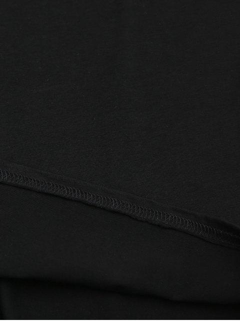 affordable Two Tone Bodycon Slip Mini Dress - BLACK M Mobile