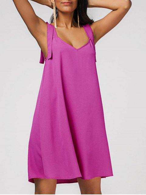 hot Casual Chiffon Swing Dress - ROSE RED XL Mobile