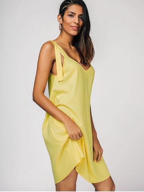 shops Straps Casual Swing Dress - YELLOW XL Mobile
