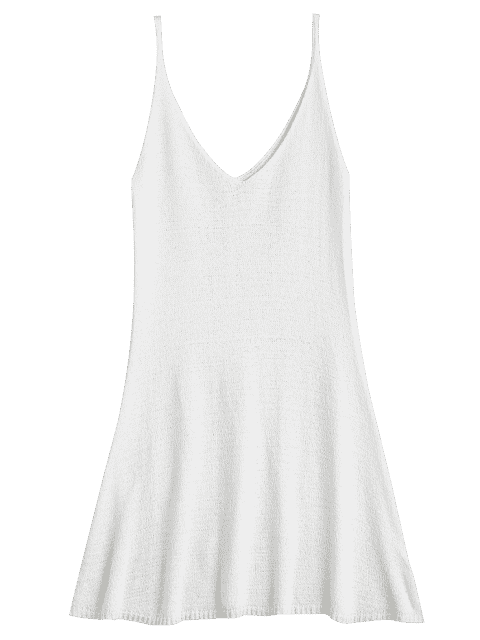 womens Mini Cami A Line Dress - WHITE ONE SIZE Mobile