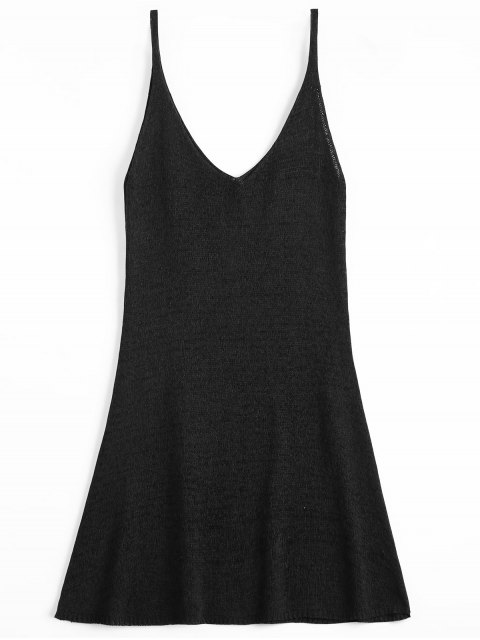 online Mini Cami A Line Dress - BLACK ONE SIZE Mobile