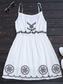 Patchwork Cami Mini Dress