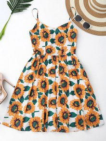 Floral Hollow Out Criss Cross Mini Dress - White M