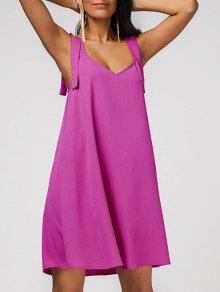 Casual Chiffon Swing Dress - Rose Red L