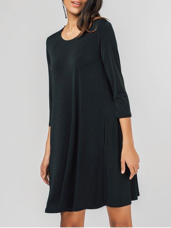 trendy Swing Casual Mini Dress - BLACK XL