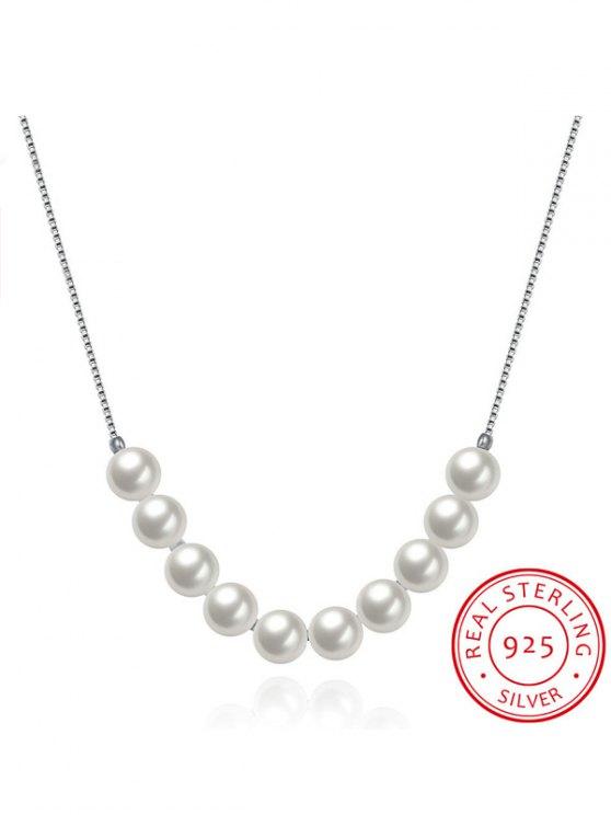 Collar de plata 925 Collarbone - Plata
