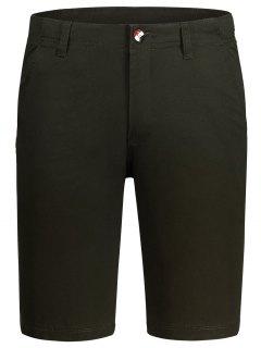 Zip Fly Cotton Chino Shorts - Dun 34