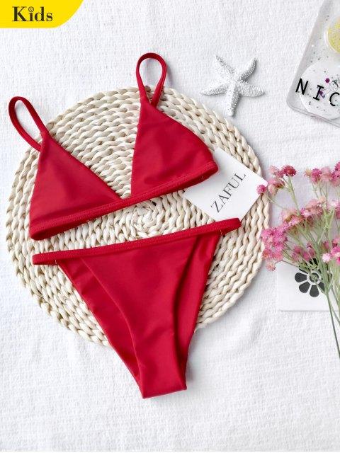 ladies Girls Kids String Bikini Set - RED 5T Mobile