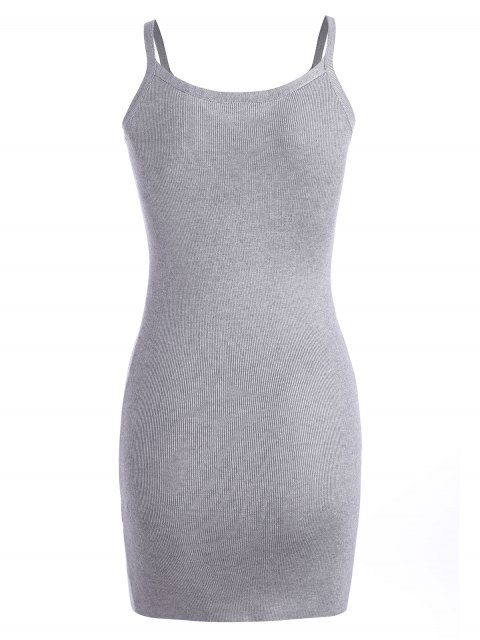buy Cami Knitted Mini Dress - GRAY ONE SIZE Mobile