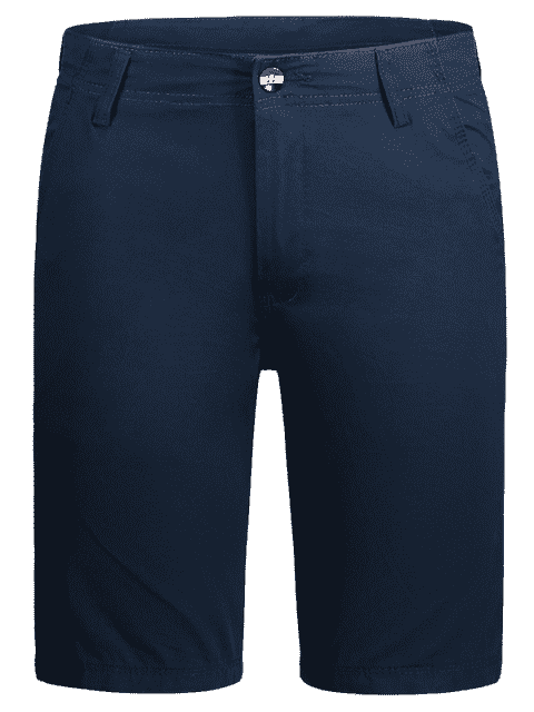 affordable Zip Fly Pocket Plain Chino Shorts - CADETBLUE 36 Mobile