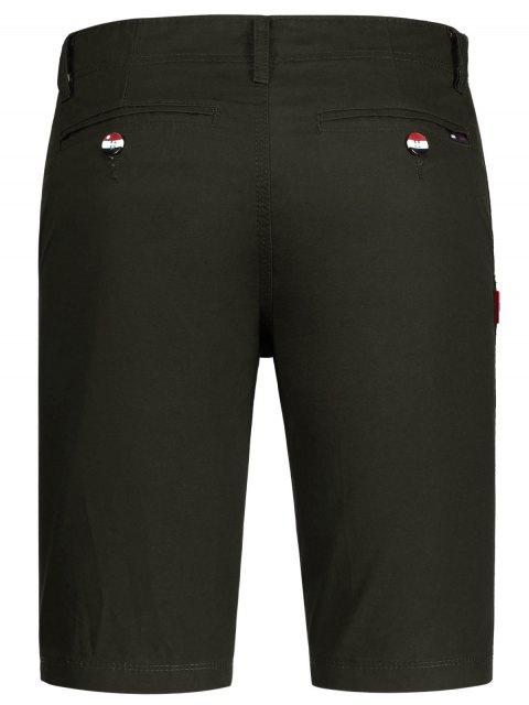 hot Zip Fly Cotton Chino Shorts - DUN 32 Mobile