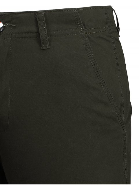 outfits Zip Fly Cotton Chino Shorts - DUN 36 Mobile