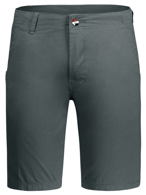 shop Zip Fly Plain Chino Shorts - GRAY 30 Mobile