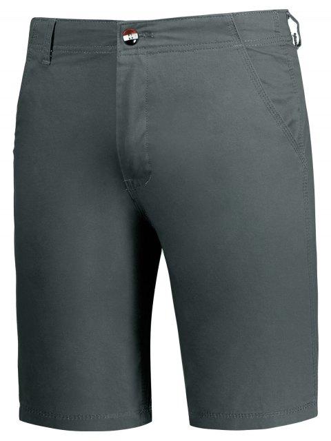 shops Zip Fly Plain Chino Shorts - GRAY 32 Mobile
