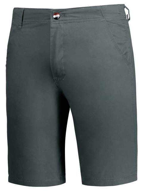 trendy Zip Fly Plain Chino Shorts - GRAY 36 Mobile