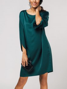 Hip Pockets Tulip Sleeve Flowy Dress