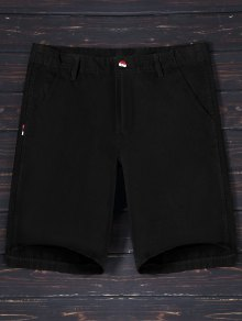 Casual Zip Fly Cotton Chino Shorts