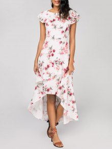 Layered Floral High Low Maxi Dress