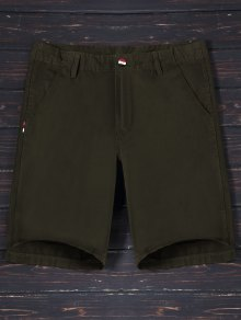 Zip Fly Cotton Chino Shorts