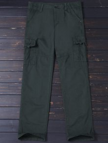 Straight Cargo Pants with Flap Pockets
