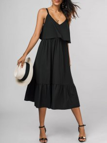 Popover Midi Dress - Black L
