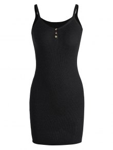 Cami Knitted Mini Dress - Black