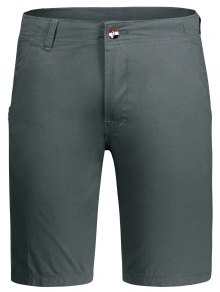 Zip Fly Plain Chino Shorts - Gray 34