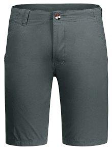 Zip Fly Plain Chino Shorts - Gray 36