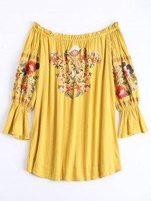Vestido De Encaje Con Bordes Florales - Jengibre Xl