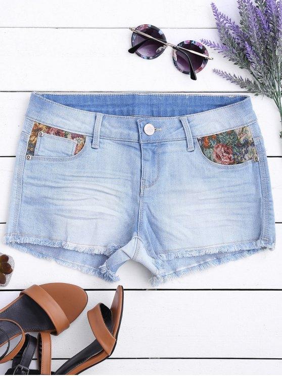 Pantalones Cortos Gráficos - Azul Claro 34
