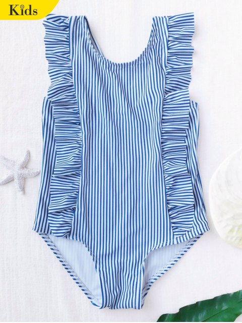 sale Ruffled Striped Kid Swimwear - STRIPE 4T Mobile