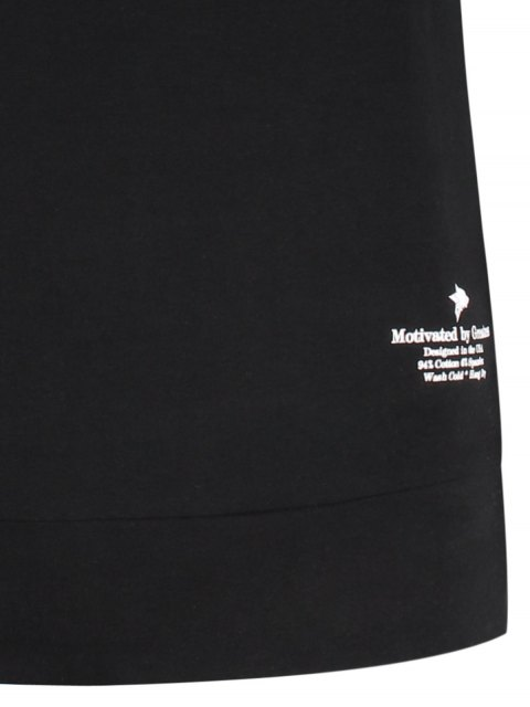 online Two Tone Panel Cotton Sweatshirt - BLACK L Mobile