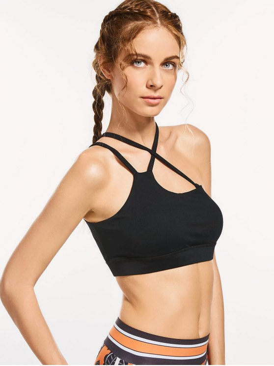 outfit Activewear Padded Criss Cross Bra - BLACK M