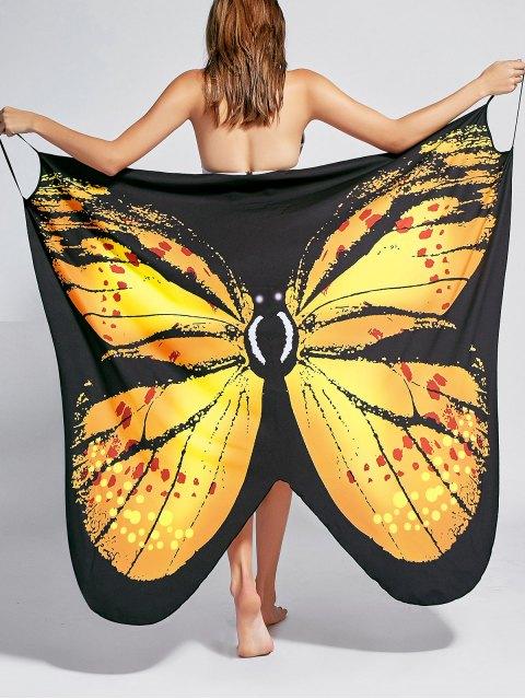 Robe de survêtement pour imprimé papillon - Jaune 2XL Mobile